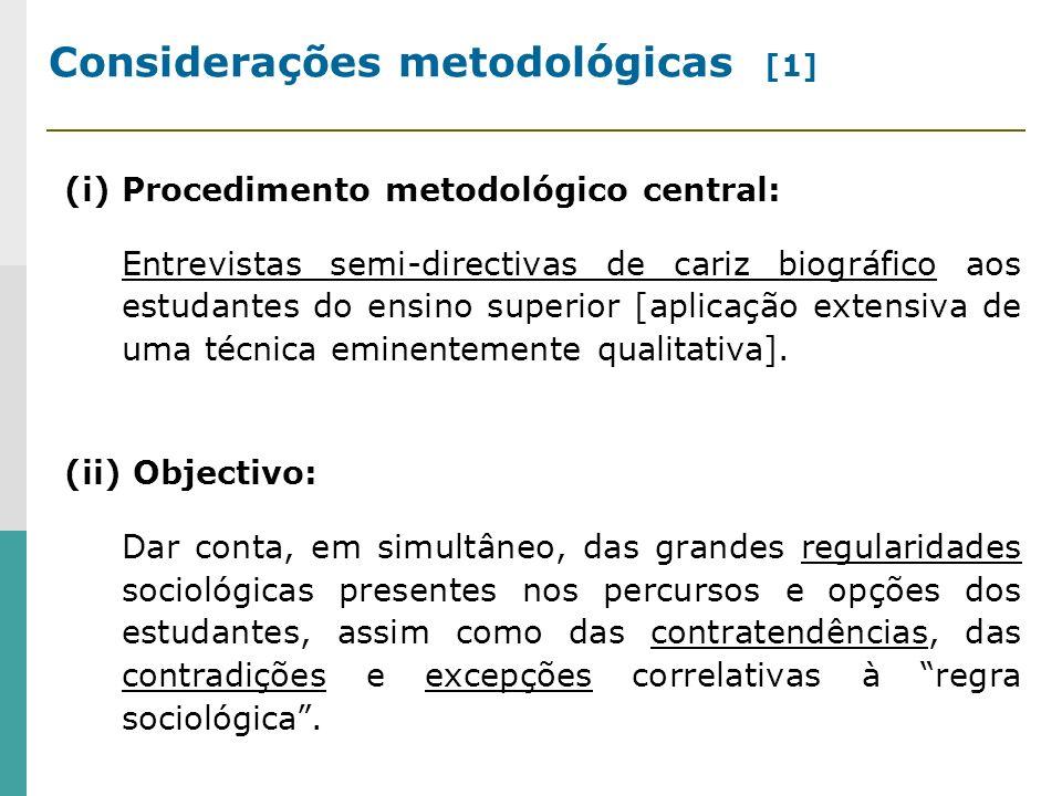 Considerações metodológicas [1]